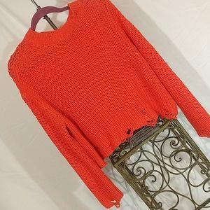 Zara distressed chunky knit sweater